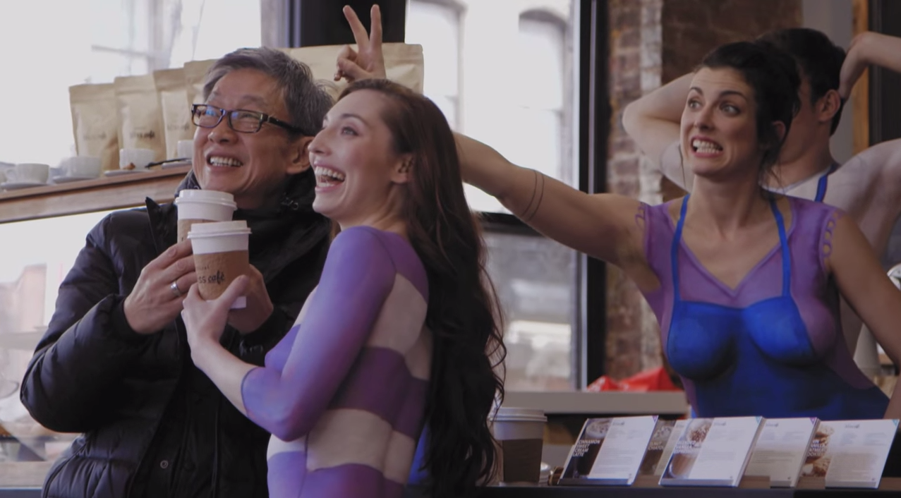 Naked Baristas Serve Coffee To Unsuspecting New Yorkers Screen Shot 2015 07 17 at 10.01.27