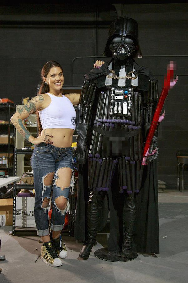 Porn Star Creates Darth Vader Out Of Sex Toys, Obviously