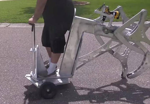 Man Makes Drill Powered Walking Machine, Everyone Hates Him For It drill web