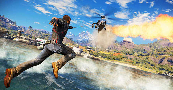 The Just Cause 3 Interactive Trailer Is Pretty Awesome justcausefacebook
