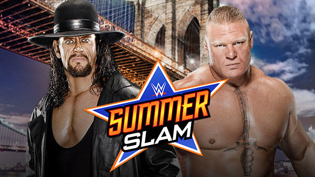 taker lesnar summerslam Undertaker vs Brock Lesnar Is Official For WWE Summerslam