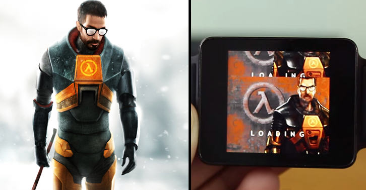 watchfacebook This Genius Has Figured Out How To Play Half Life On His Smartwatch