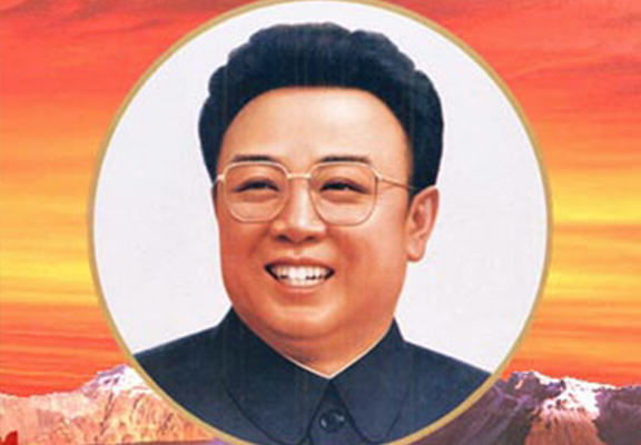 Rare North Korea Propoganda Posters Go On Display For First Time Am0PcbUxGkim jong il WEB.jpg