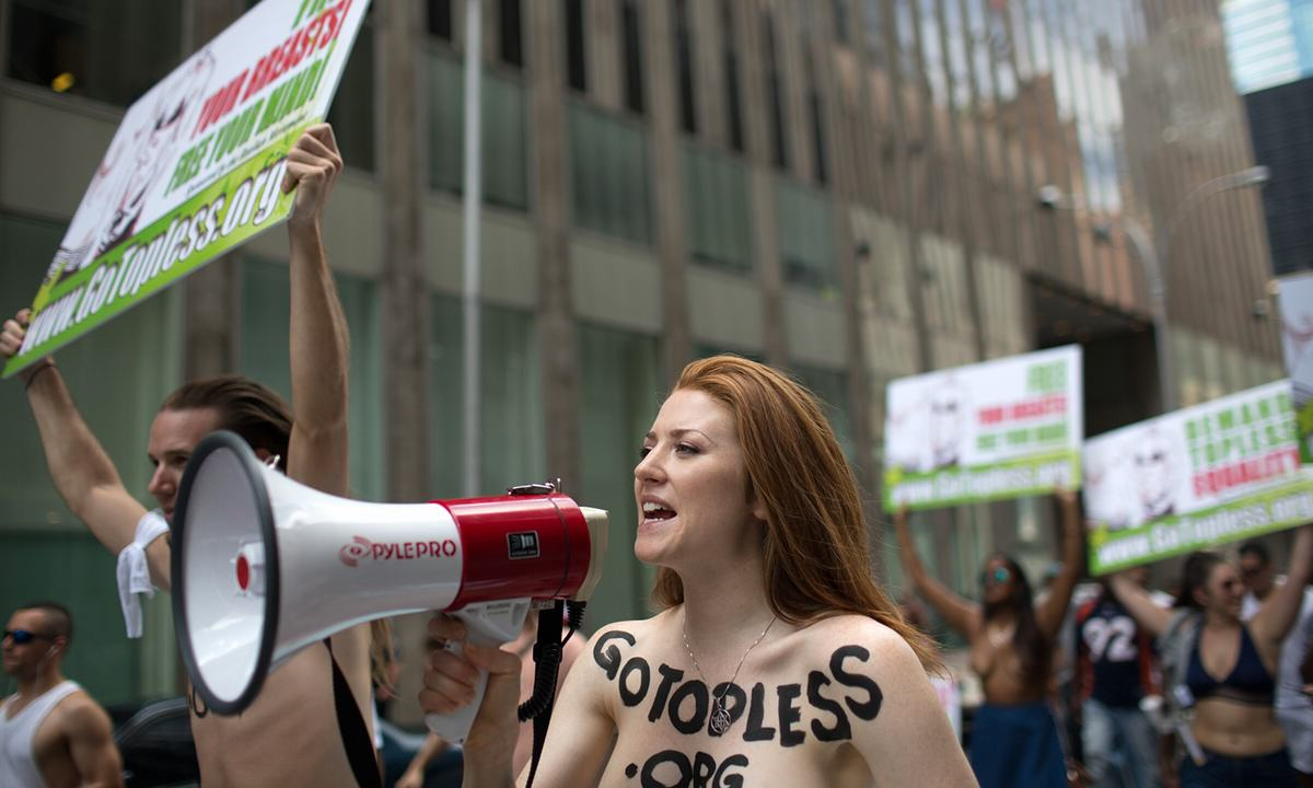 Topless Protestors Take On NY To Stop Mayor Banning Women Baring Their Boobs UNILAD Guardian 24