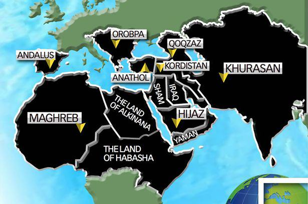 UNILAD ISIS world map6 ISIS Reveal Terrifying Map Of Their Planned Global Expansion