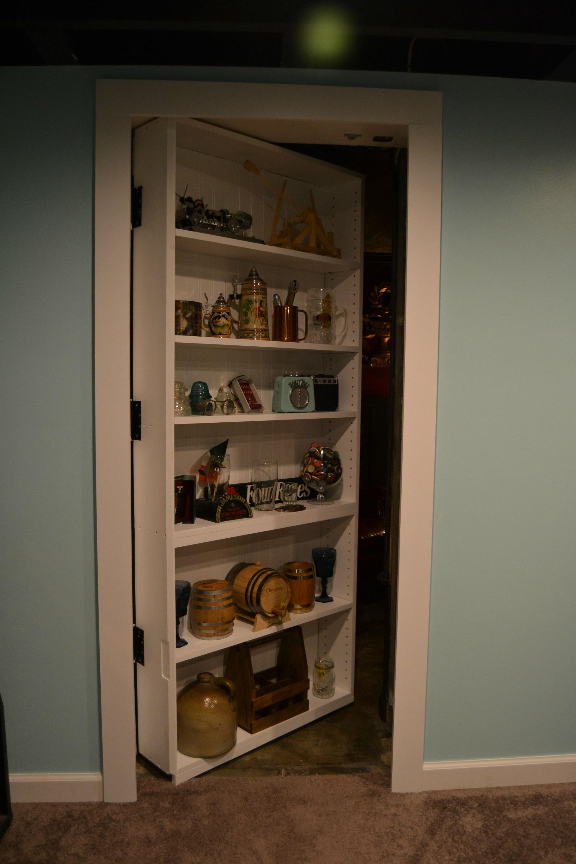 This guy built the ultimate room behind a secret bookshelf door - Fabriquer une etagere ...