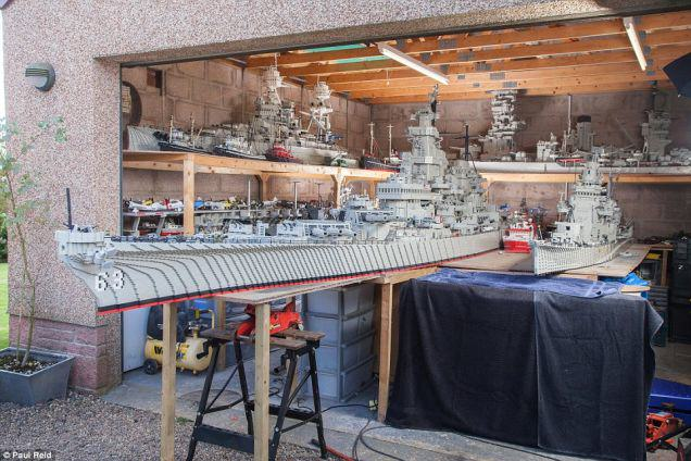 UNILAD One7 A Fisherman Spent Three Years Building A 24 Foot Long Lego Boat