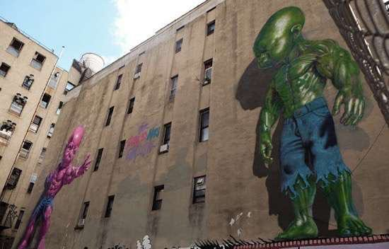 UNILAD Posted On Shock Mansion20212 Street Artists Transformed These Boring Buildings Into Works Of Art