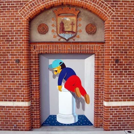 UNILAD Posted On Shock Mansion23222 Street Artists Transformed These Boring Buildings Into Works Of Art