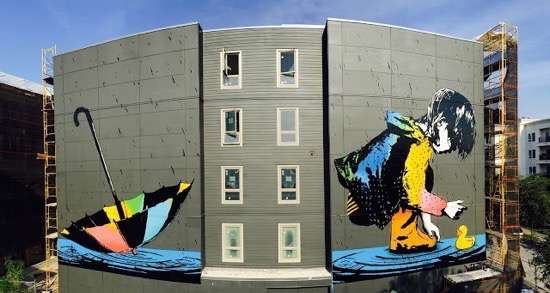 UNILAD Posted On Shock Mansion33223 Street Artists Transformed These Boring Buildings Into Works Of Art