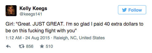 Couple Dramatically Break Up On Plane, Whole Thing Is Live Tweeted UNILAD Screen Shot 2015 08 24 at 12.00.066