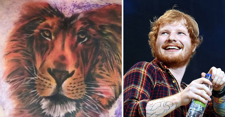 UNILAD ed sheeran tattoo 25 Nope, Ed Sheerans Chest Tattoo Is Not Cecil The Lion