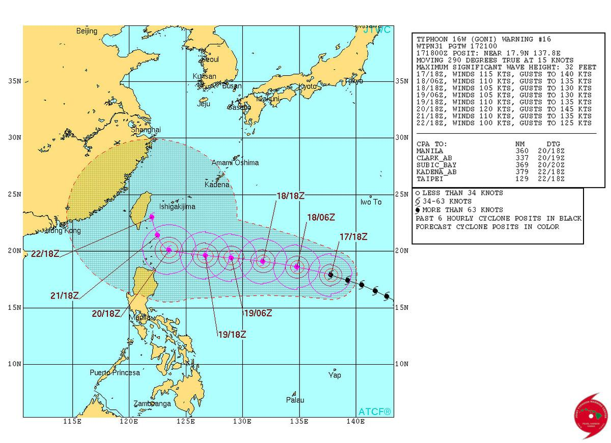 Scary Satellite Images Show Massive Twin Typhoons Expected To Hit Southeast Asia UNILAD goni JTWC 2