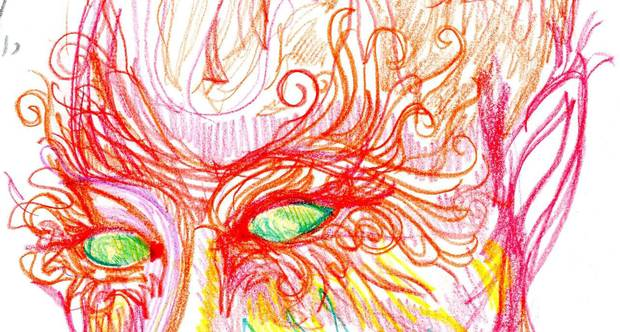 Artist Takes LSD, Draws Self Portraits Over 9 Hour Trip To See Effect UNILAD lsd7