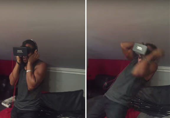 UNILAD richard headset WEB3 This Lad Experienced A Virtual Reality Haunted House, Got The Fright Of His Life