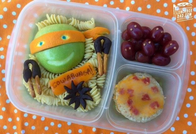 UNILAD tmnt7 This Awesome Dad Makes The Best School Dinners Ever