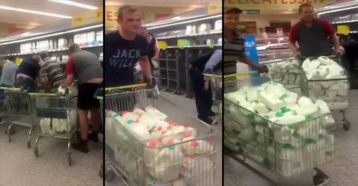 i8CmlkSV0milk farmers FB.jpg Farmers Clear Supermarkets Of Milk In Protest Of Prices