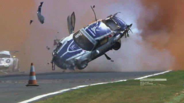 85657872 mmmotpiquetcrash219 Former F1 Drivers Teenage Son Flips Car Nine Times, Miraculously Survives