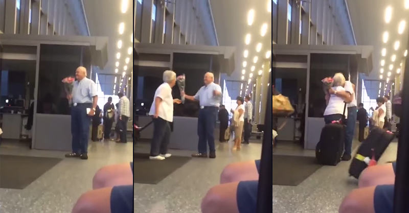 UNILAD 134 Video Of Old Man Waiting For His Wife At The Airport Is Going Viral