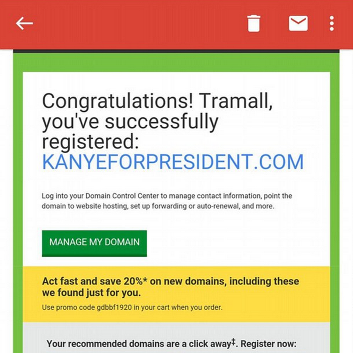 This Student Bought KanyeForPresident.com Five Months Ago UNILAD Screen Shot 2015 09 01 at 13.56.133