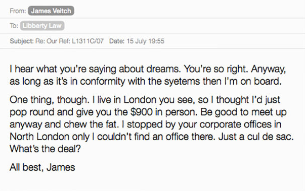 UNILAD Screen Shot 2015 09 06 at 21.52.393 Comedian Responds To Spam Emails, Compiles Results Into Hilarious Book