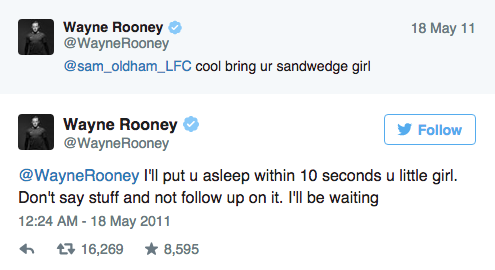 UNILAD Screen Shot 2015 09 09 at 15.02.265 Wayne Rooneys Twitter Account Is An Absolute Goldmine