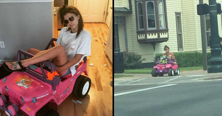 UNILAD barbie 27 Girl With DUI Now Drives A Barbie Jeep Around Campus