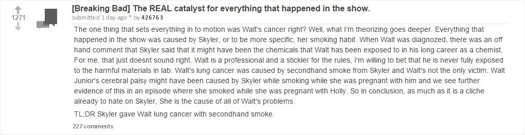 This New Breaking Bad Fan Theory Places Blame For Everything On Skyler UNILAD breaking bad theory 13