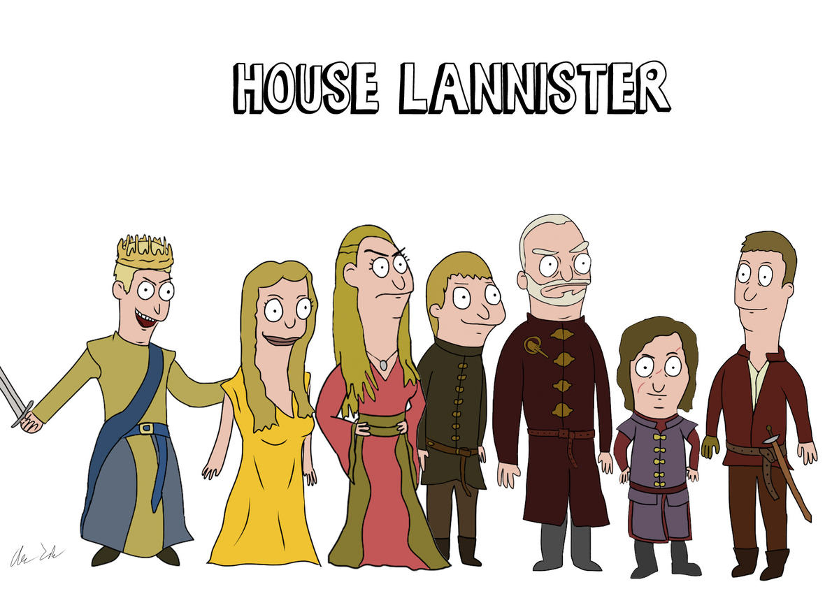 Someone Has Drawn Game Of Thrones Characters In The Style Of Bobs Burgers UNILAD burg24