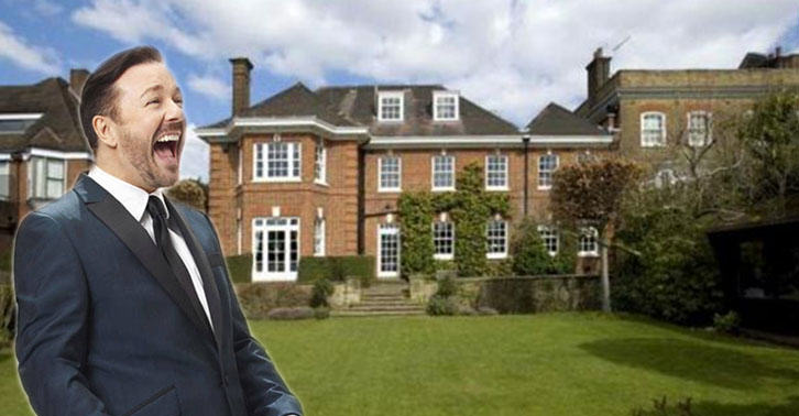 UNILAD gervais35 Heres A Glimpse Inside Ricky Gervais New £10Million London Mansion