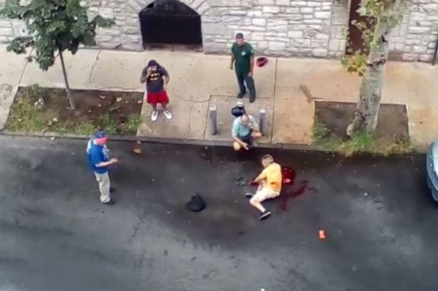 UNILAD pitbulls16 Out Of Control Pit Bulls Maul A Man In New York Street