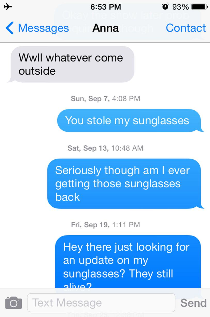 UNILAD sun13 This Guy Bombarded A Girl With Texts For A Year Asking For His Sunglasses Back