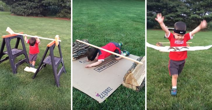 UNILAD yoshi 22 This 3 Year Old Loves Ninja Warrior, So His Dad Built Him An Awesome Course