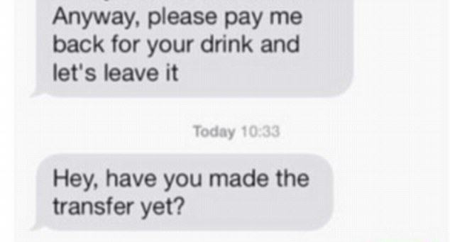 UNILADs Guy Demands Woman Repays Him For Drink After She Rejects Second Date image