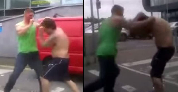 irish fight FB Footage Of Two Men Having Brutal Fist Fight In Car Park Goes Viral