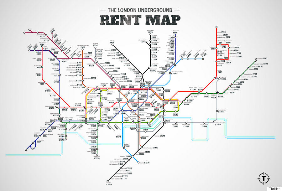 london prices 8 London Underground Rent Map Shows Cheapest And Most Expensive Places To Live In City