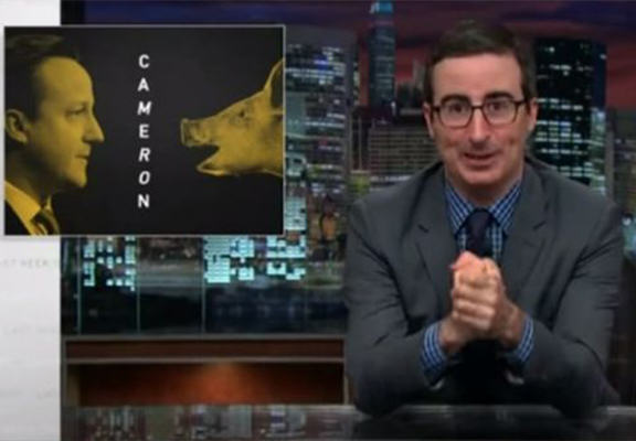 John Oliver Roasts David Cameron In Hilarious Response To Pig Scandal oliver cameron pig WEB