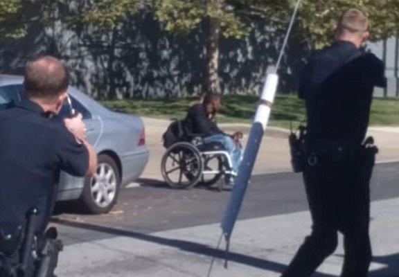 Police Caught On Camera Shooting And Killing Armed Man In A Wheelchair policeshot1