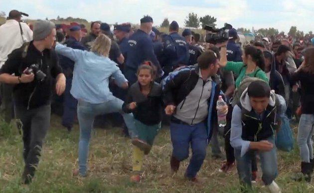 Hungarian Camerawoman Who Kicked Refugee Now Plans To Sue Him %name
