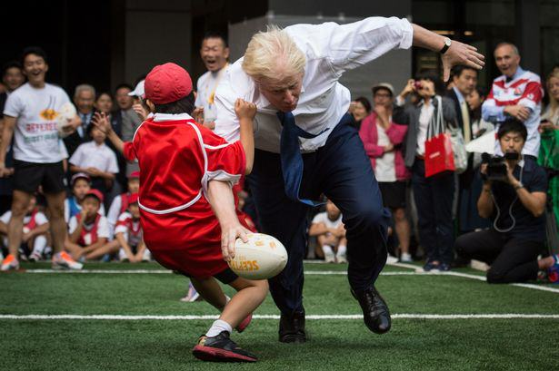 Watch Boris Johnson Rugby Tackle A Japanese Schoolboy, Because Why Not UNILAD Boris Johnson5