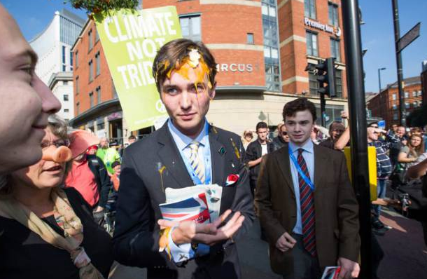 UNILAD Screen Shot 2015 10 04 at 19.21.574 Young Tory Gets Egged By Protesters Outside Conservative Party Conference