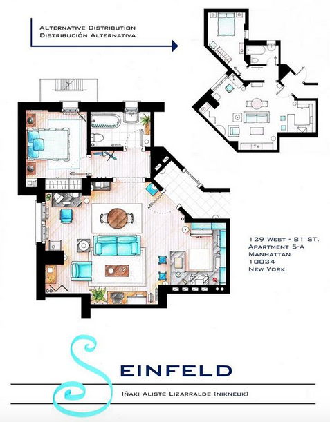 Someone Has Drawn The Floorplans Of Popular TV Show Apartments UNILAD Screen Shot 2015 10 04 at 20.18.368