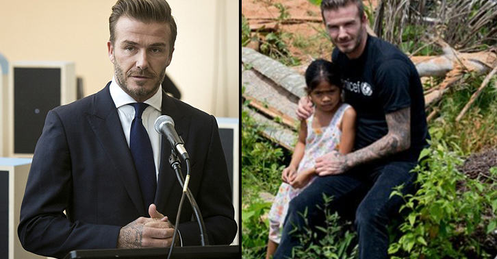 UNILAD beckham 216 This Little Girls Story Made David Beckham Cry