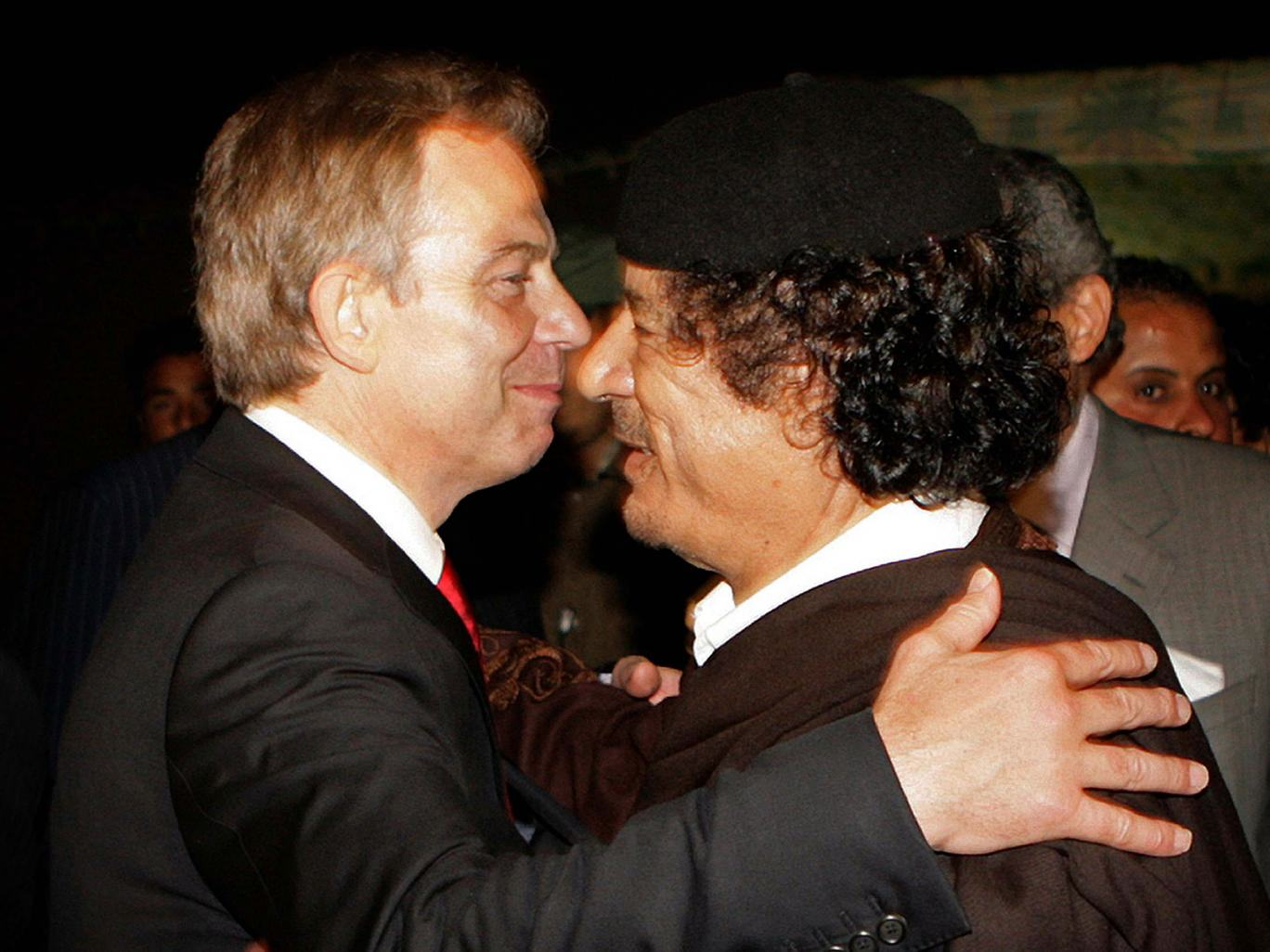UNILAD blair gaddafi4 Leaked Email Shows Tony Blair Told Gaddafi To Hide And Avoid Capture
