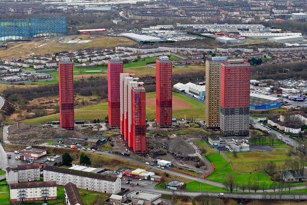 Iconic Glasgow Red Tower Flats Demolished In Only Seven Seconds UNILAD blocks11