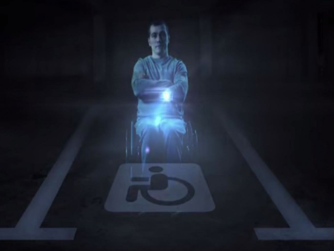 UNILAD disabled hologram 115833 Russia Has A Creative Way Of Stopping People Parking In Disabled Bays