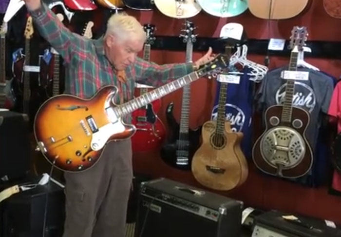 UNILAD granddad322133 Rockstar Granddad Shreds Epic Guitar Solo Leaving Music Shop Staff In Awe