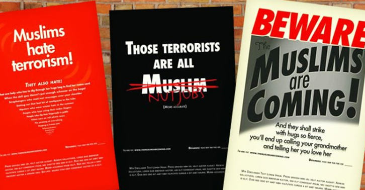 UNILAD muslim12 416 Posters Saying Beware The Muslims Are Coming Are Set To Hit New York Subways