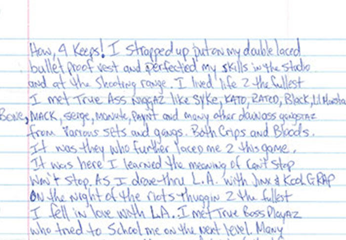 UNILAD pac55 Letter Penned By Tupac From Prison Before His Death Is Leaked