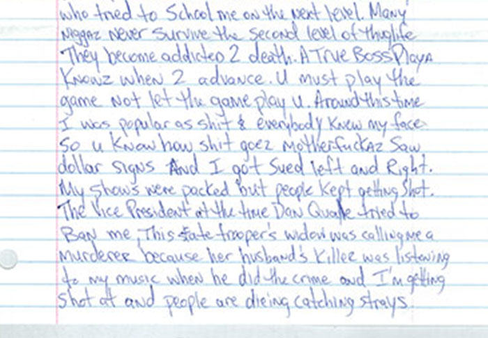 UNILAD pac66 Letter Penned By Tupac From Prison Before His Death Is Leaked